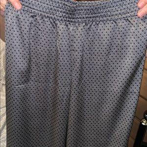 Wide leg pant, elastic waist